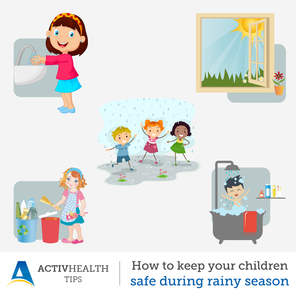 How to keep your children safe and healthy during rainy season?