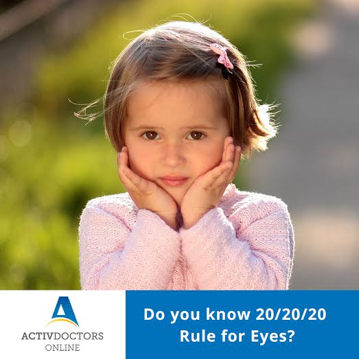 Do You Know 20/20/20 Rule for Eyes?